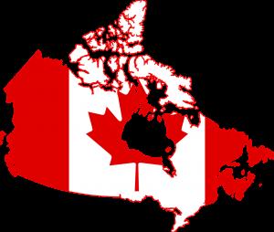 canada, flag, map
